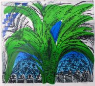 Pamela Guille, The Palm, signed limited edition colour etching, no. 2/10, 38 x 43cms, unframed