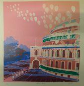 Pamela Guille, Albert Hall, signed limited edition screen print, no. 3/20, 54 x 42cms, unframed