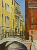 Michael Haswell, Venice Canal scene, oil on board, 61 x 45cms, unframed