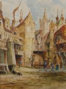 H. Brooks Seaton (19th Century), Boppard and Bayonne, watercolour, 38 x 28cms, framed