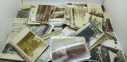 Postcards; selection of Real Photographic postcards (110)