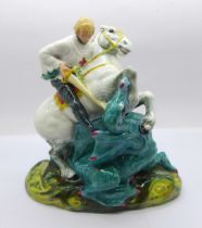 A Royal Doulton figure of St. George and the dragon