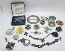 Celtic jewellery including St. Justin pewter