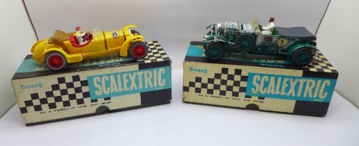 Two Scalextric Vintage Car Racing cars, Bentley C.64 and Alfa Romeo (1933) C.65, boxed