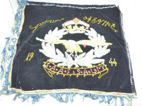 An embroidered Egypt souvenir, 1944, SAAF SALM
