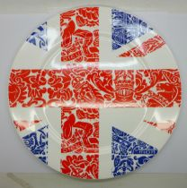 A Royal Crown Derby plate, Britannia, second, 30.5cm