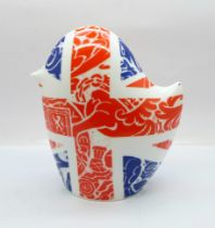A Royal Crown Derby Britannia bird paperweight, boxed