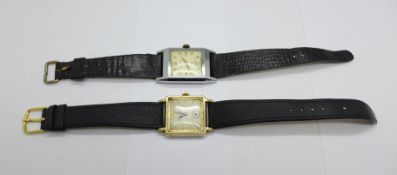 Two wristwatches, Newmark and Mappin & Webb