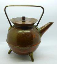 A Christopher Dresser Benham & Froud copper kettle