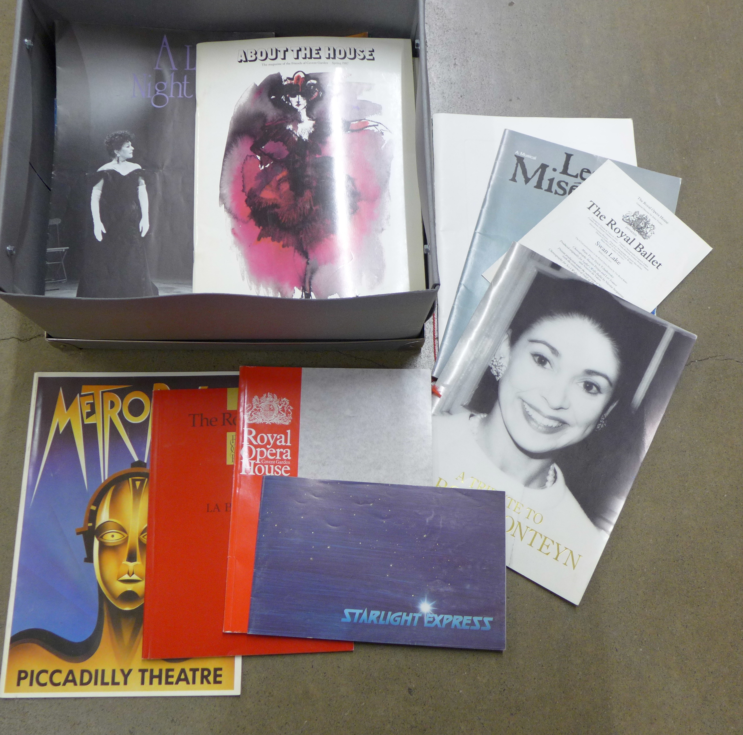A box of 1970's and 1980's West End programmes **PLEASE NOTE THIS LOT IS NOT ELIGIBLE FOR POSTING