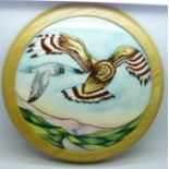 A large Moorcroft plaque, Sky Dancer, designed by Kerry Goodwin, limited edition 21/50, 31cm, boxed
