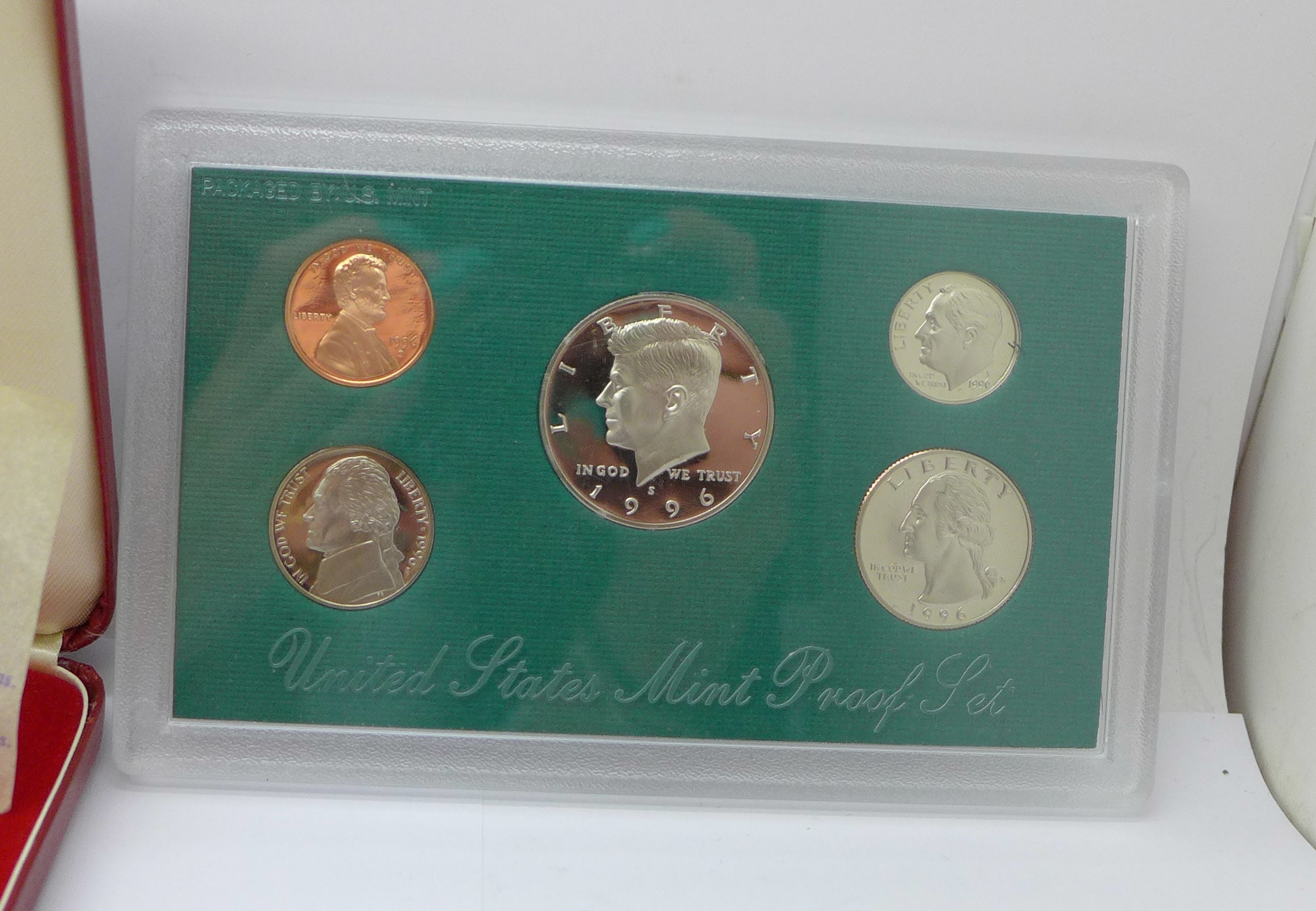 A Tower Mint limited edition nickel silver 5-coin set, cased, a 1996 United States mint proof set, - Image 4 of 5