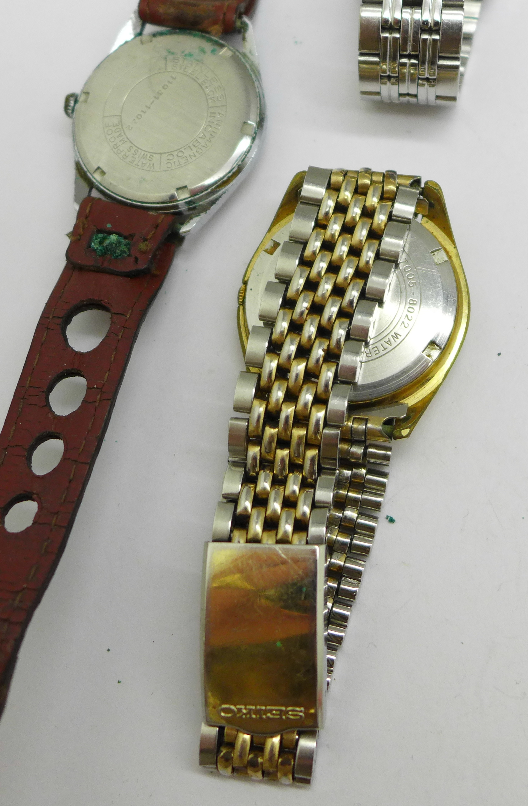 Three wristwatches including Seiko automatic and quartz, and Avia Olympic - Image 6 of 7