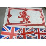 Four flags and one Union Jack pillowcase