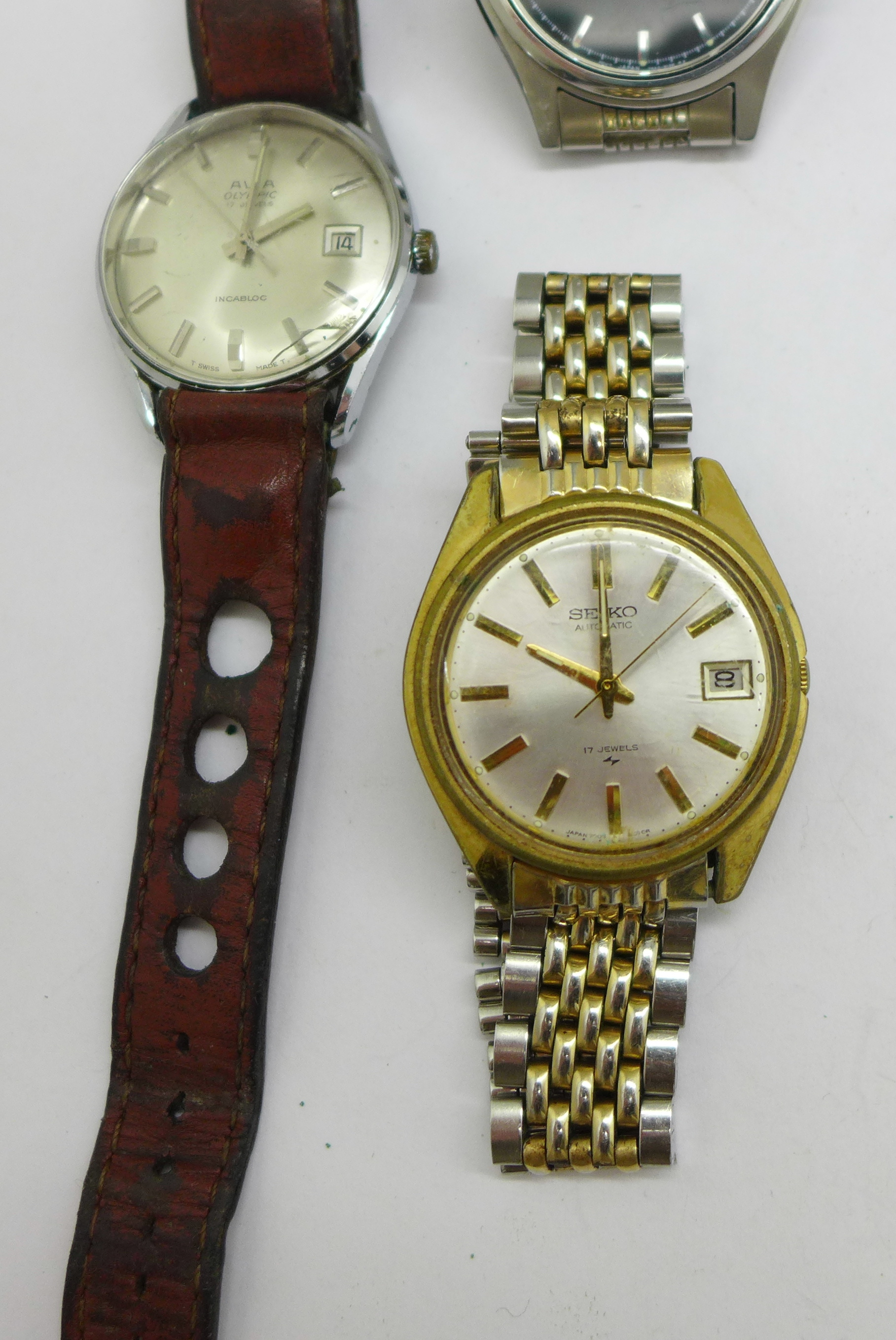 Three wristwatches including Seiko automatic and quartz, and Avia Olympic - Image 3 of 7