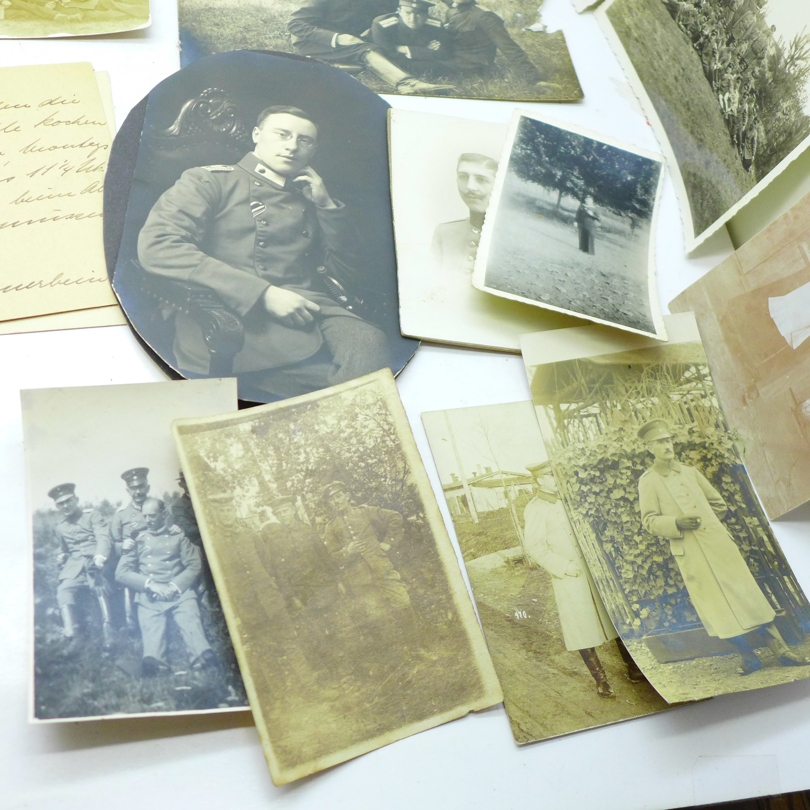 Seventeen WWI German photographs and twenty-two postcards - Image 6 of 6