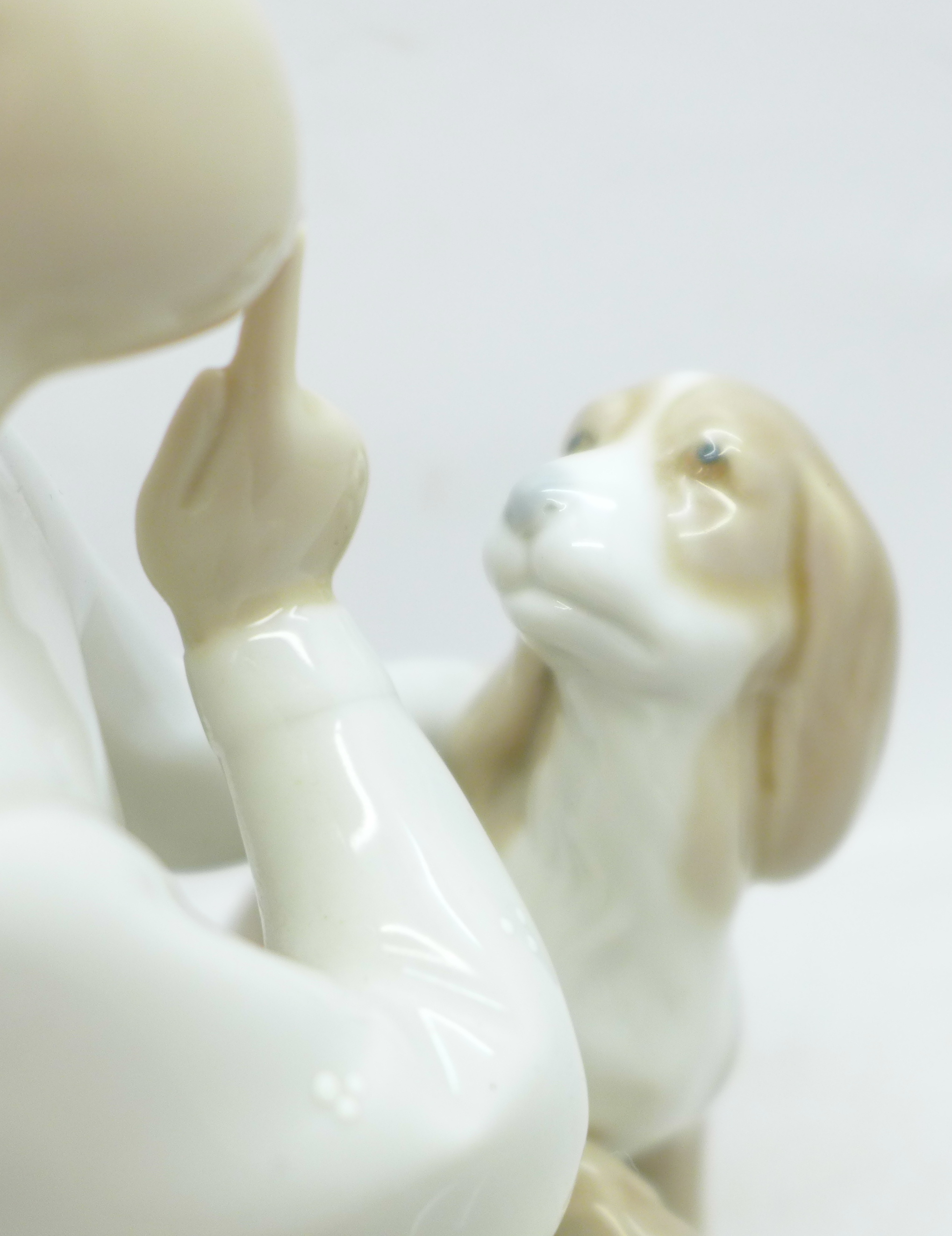 A Lladro figures, boy with dog, 19.5cm - Image 2 of 4