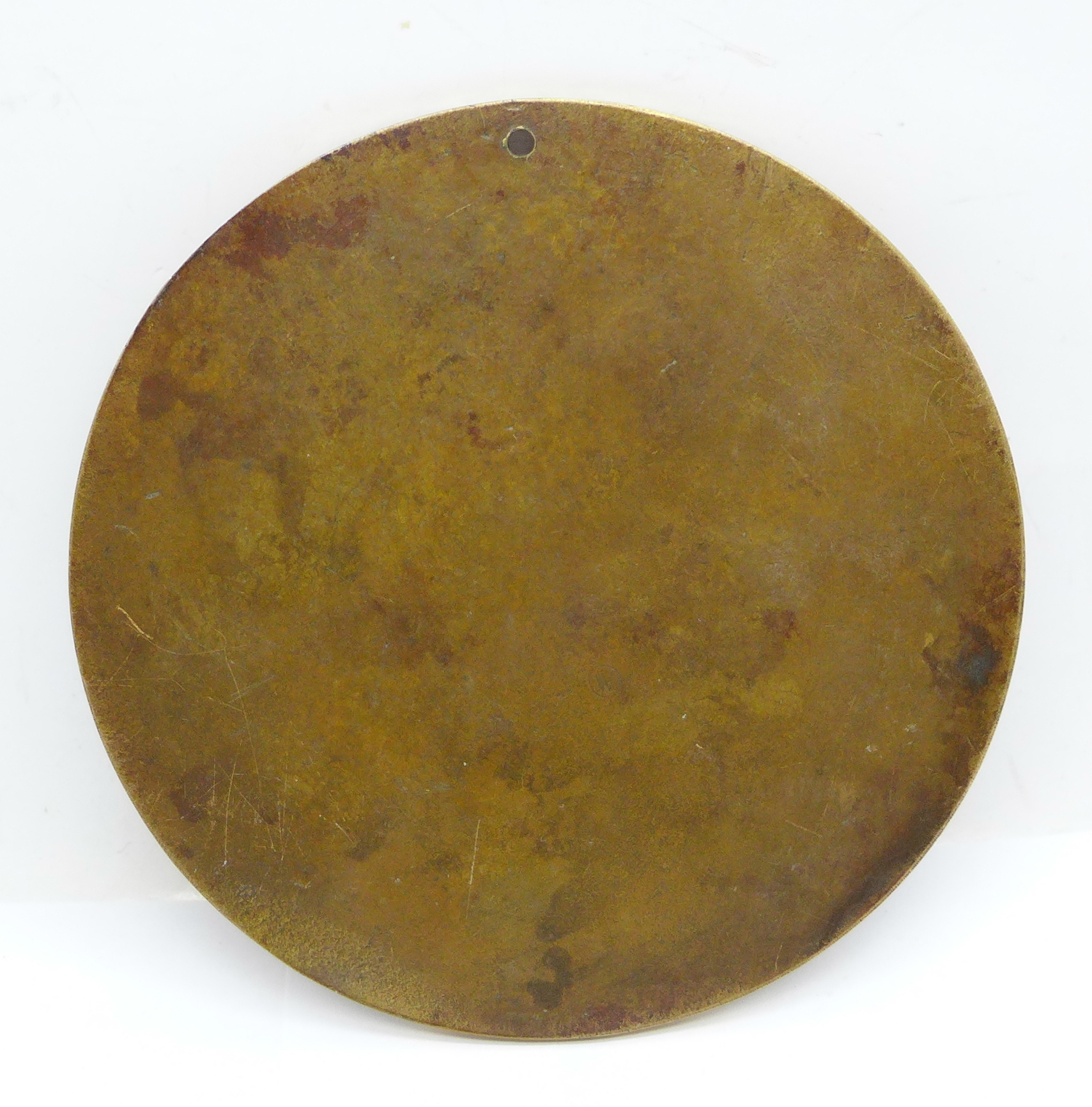 A WWI death plaque to Henry Wyer, a/f (drilled) - Image 2 of 2