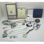 Jewellery including Equilibrium, Pilgrim, Murano glass, etc.