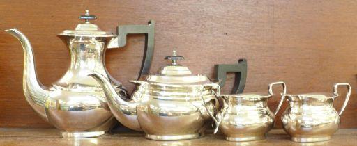 A four piece Viners of Sheffield Alpha plate tea service and an EPBM tea service