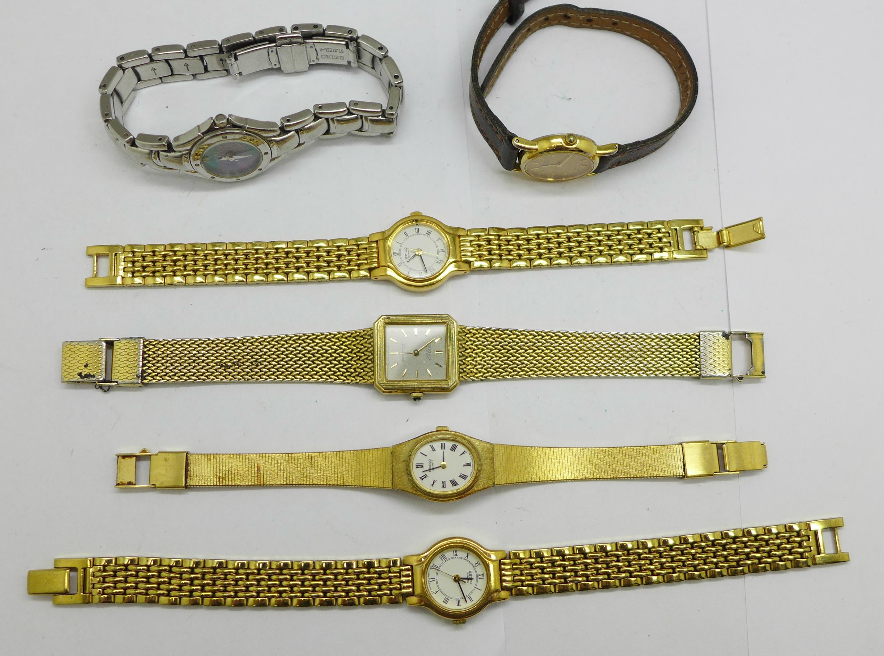 Six lady's Seiko wristwatches - Image 2 of 4