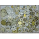 Lady's and gentleman's wristwatch movements including Tissot, Record, Waltham, Thos Russell, Rotary,