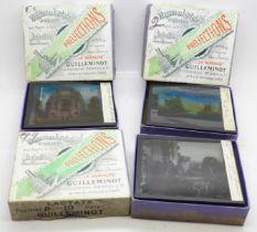 Three boxes of French magic lantern slides, (30)
