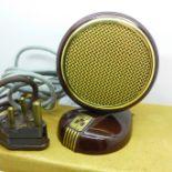 A Grundig Bakelite microphone
