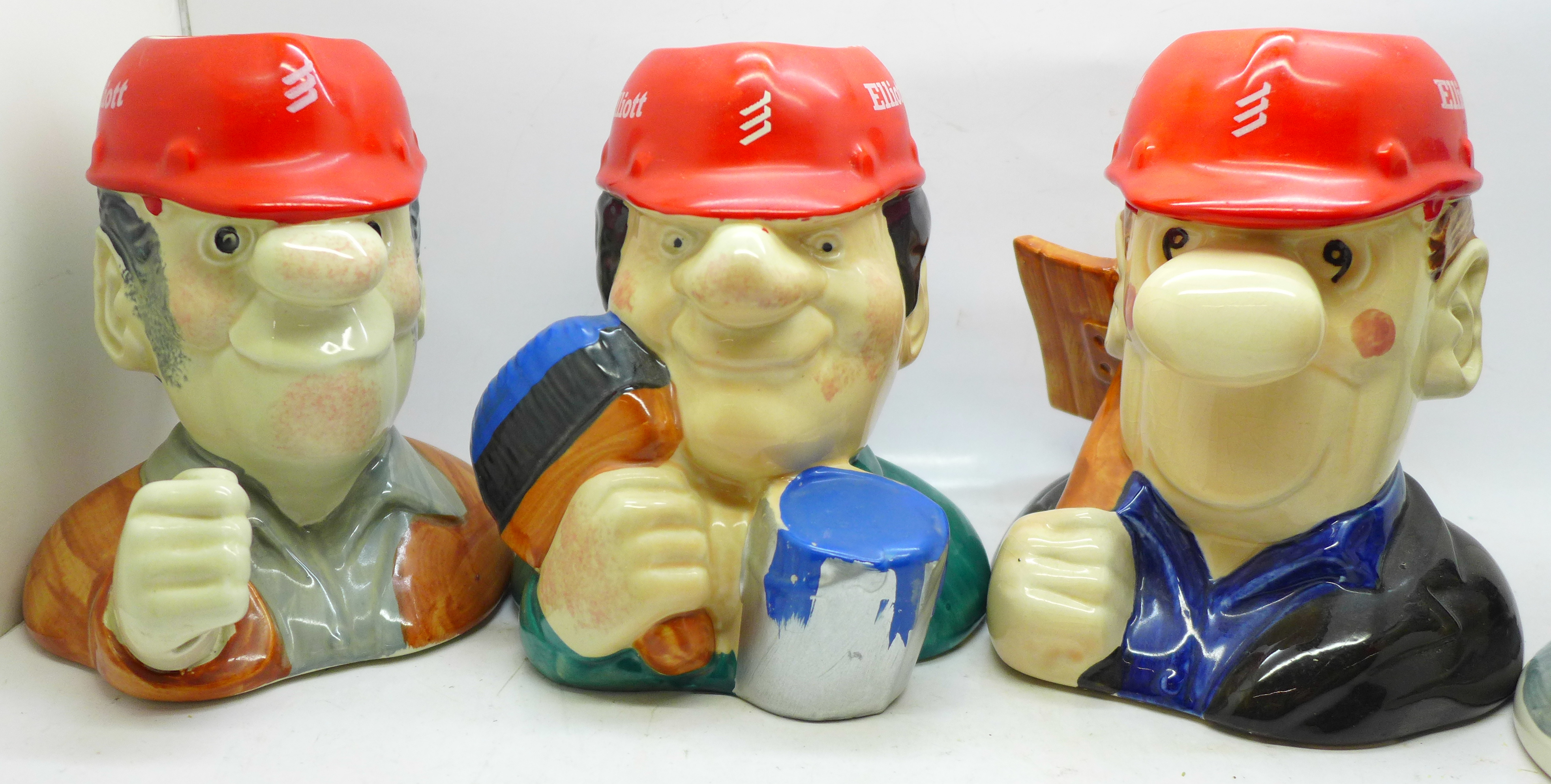 Four Elliott Toby jugs, 'The Builders' - Image 2 of 6
