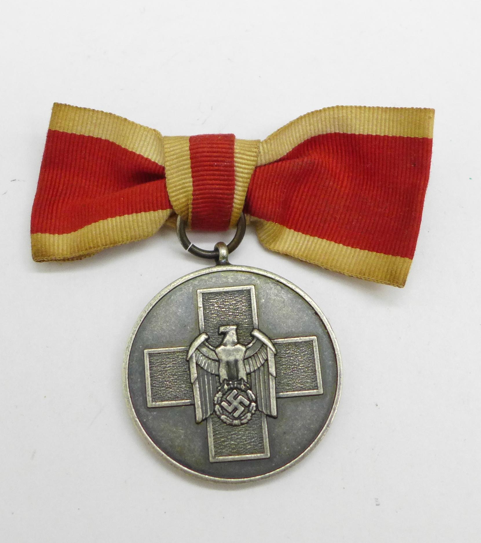 A WWII German Social Welfare for women medal