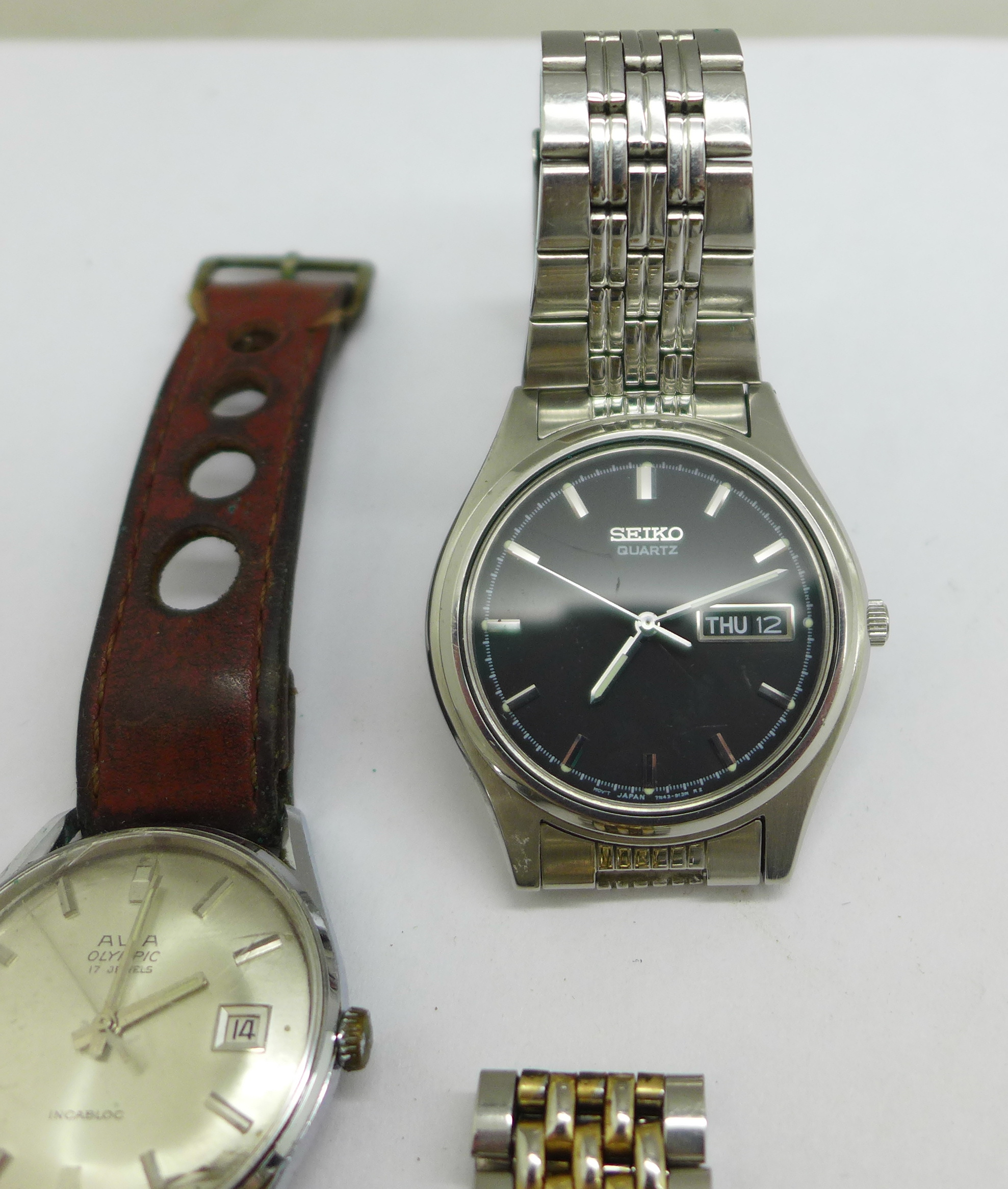 Three wristwatches including Seiko automatic and quartz, and Avia Olympic - Image 4 of 7