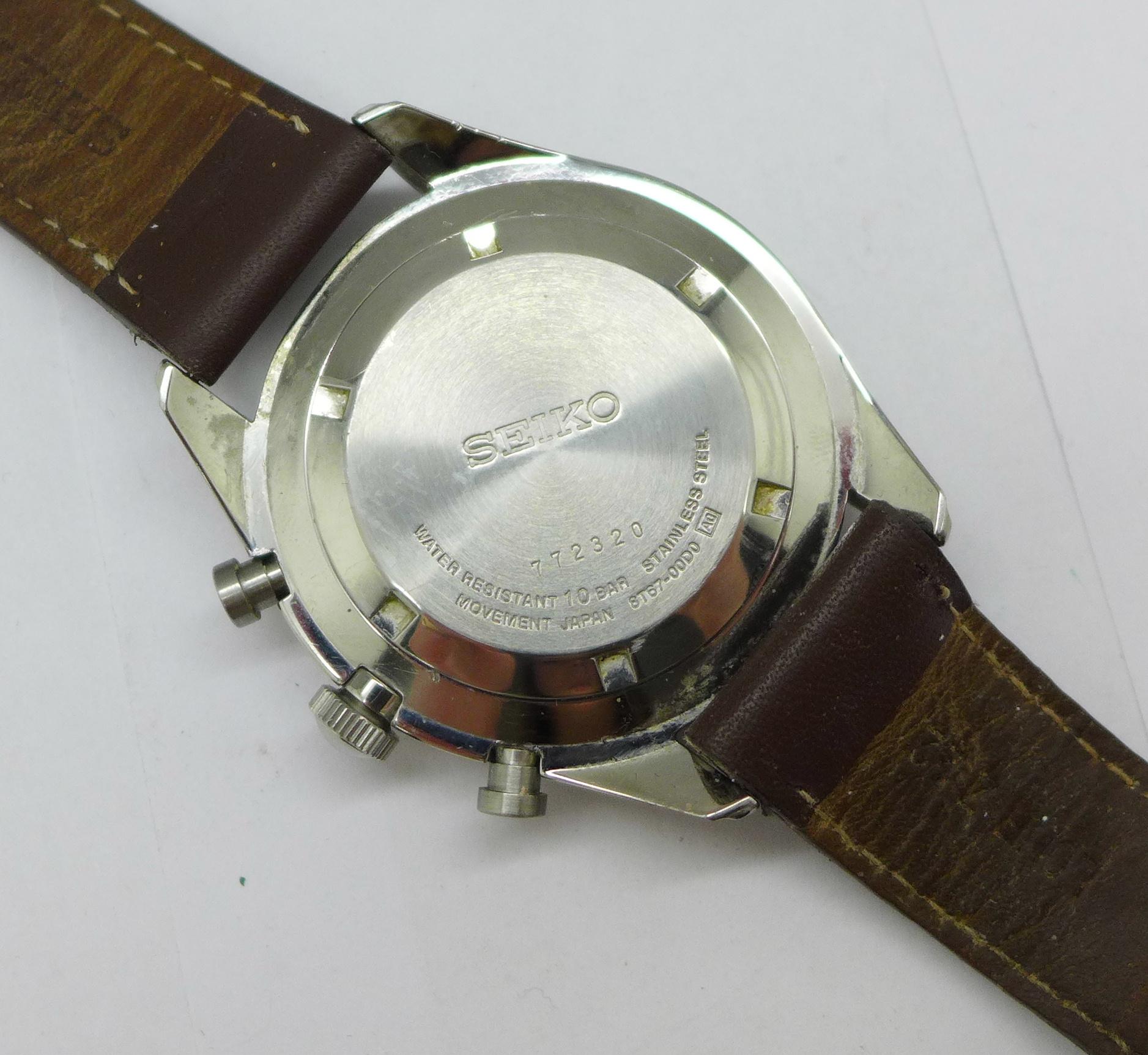 A Seiko chronograph wristwatch - Image 4 of 6