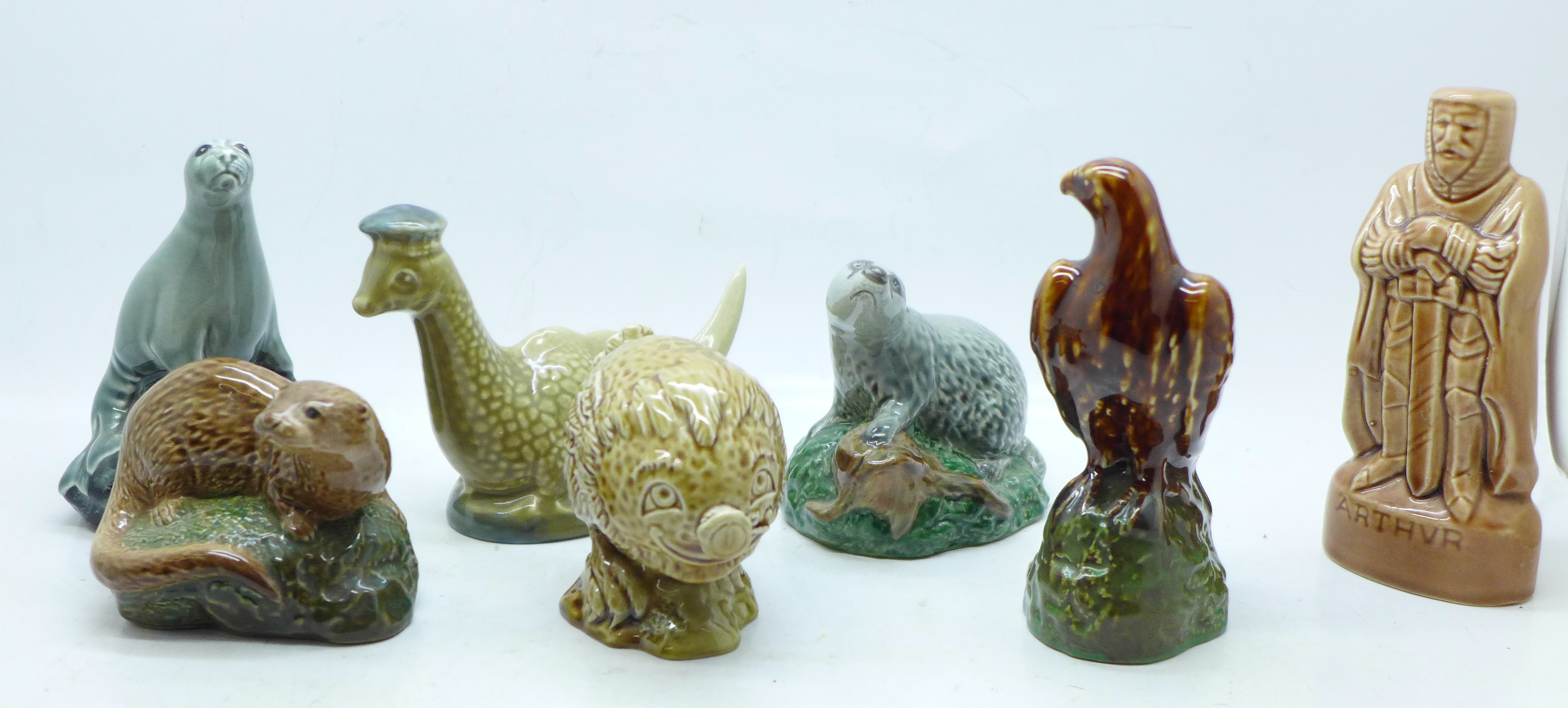 Seven Beswick whisky decanters