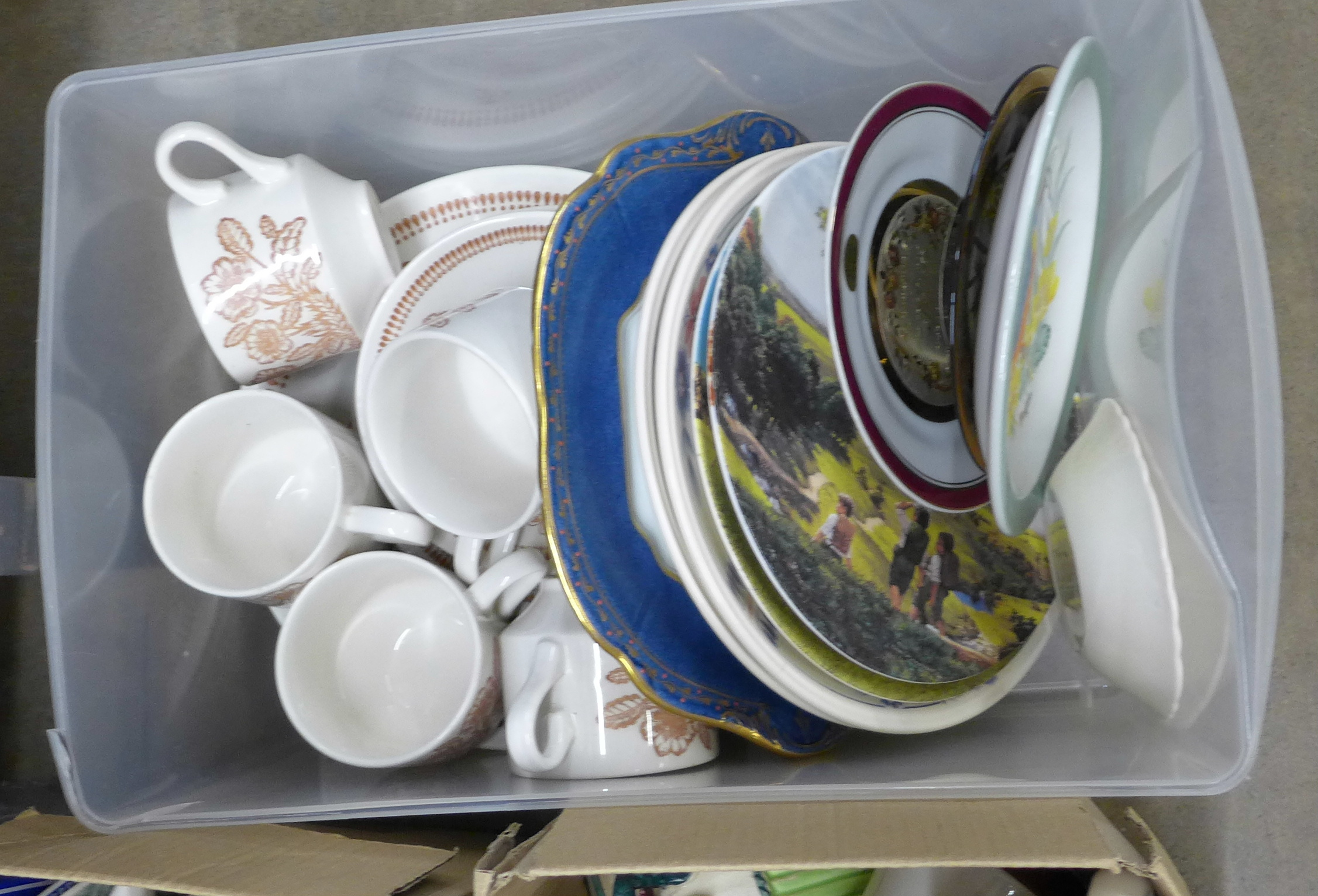 A collection of mixed china including Royal Doulton, Limoges and Hammersley and two Lord of the - Image 4 of 4