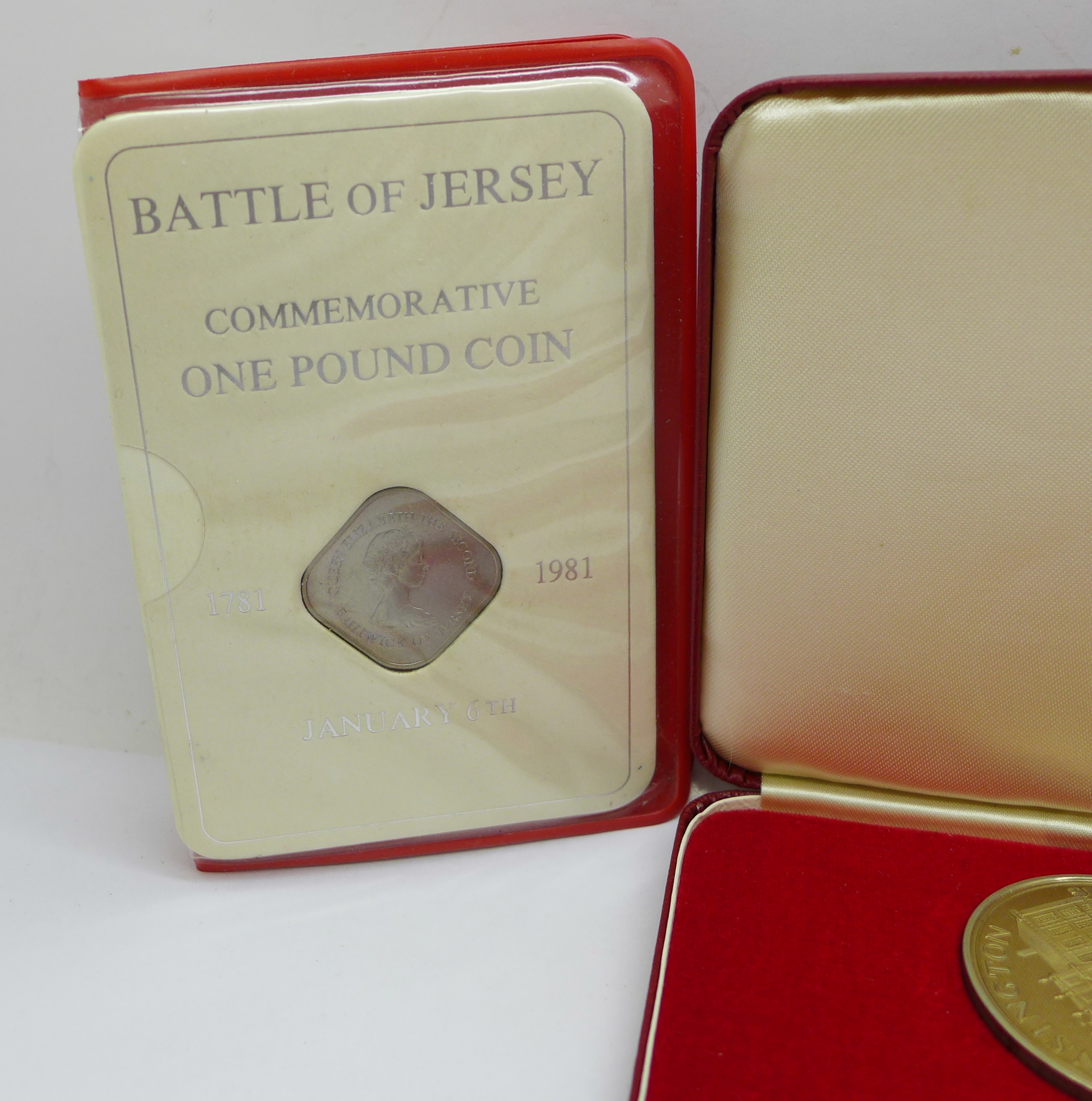 A Tower Mint limited edition nickel silver 5-coin set, cased, a 1996 United States mint proof set, - Image 2 of 5