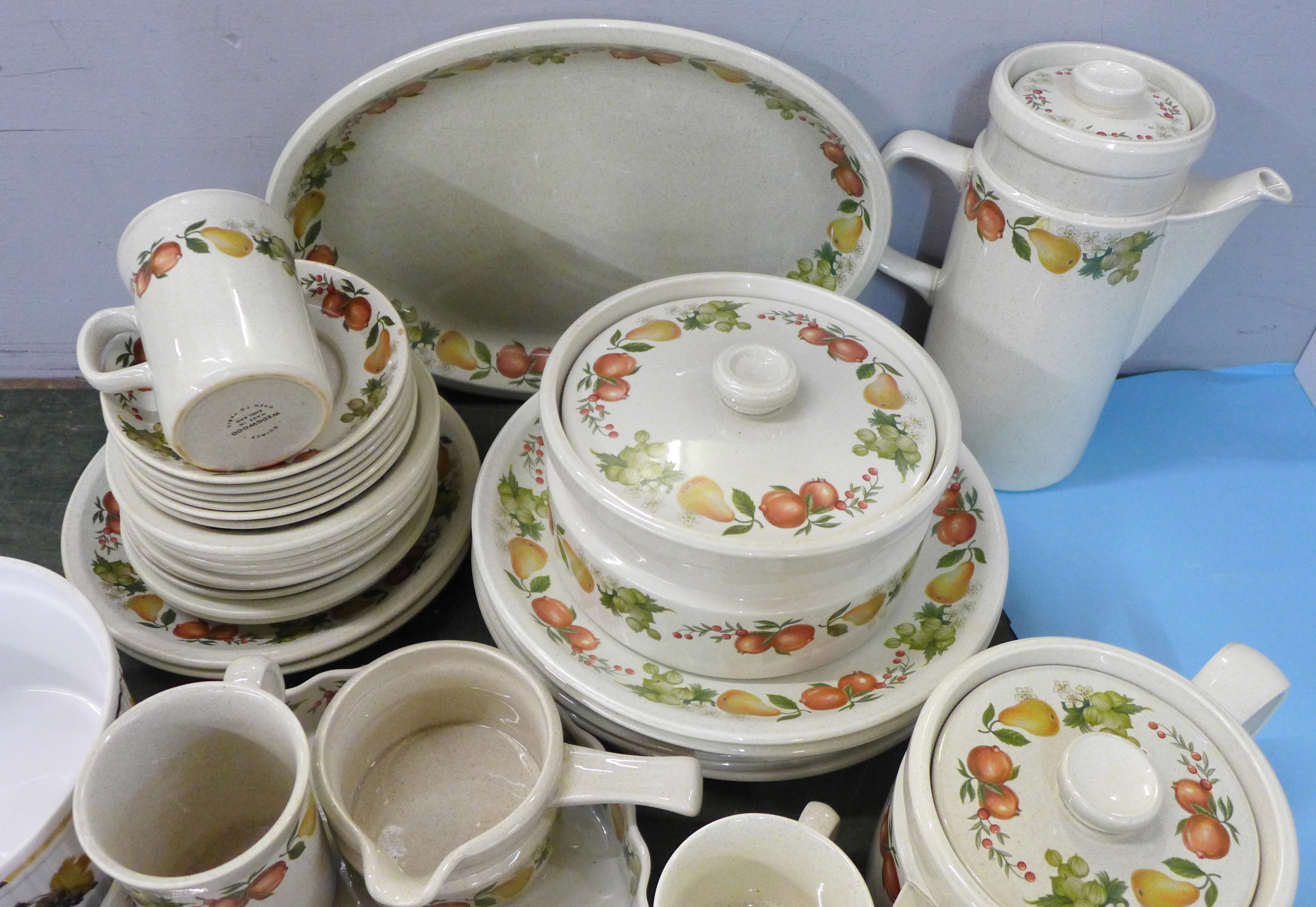 Mixed teawares and tablewares, Wedgwood Quince, Royal Worcester Evesham souffle dish, Denby Autumn - Image 2 of 5