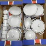 A Bohemia dinner service, made in Czechoslovakia **PLEASE NOTE THIS LOT IS NOT ELIGIBLE FOR