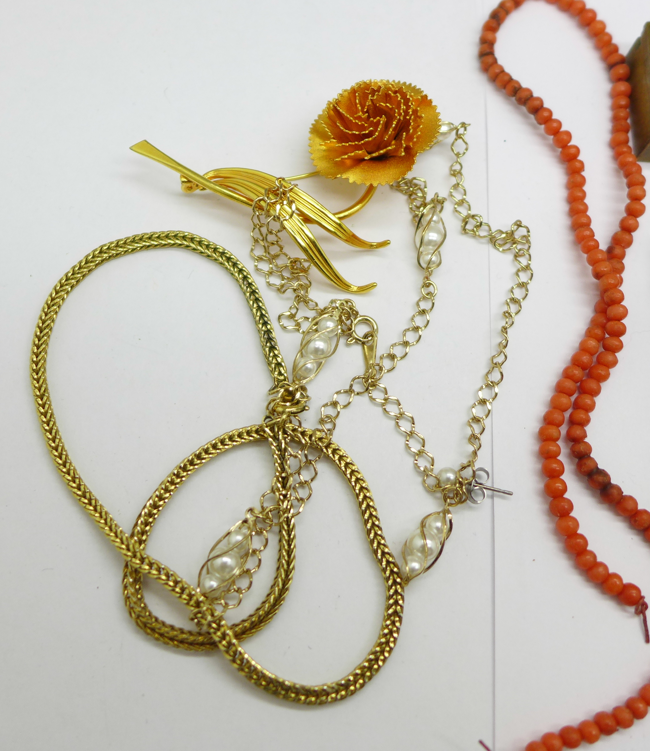 Costume jewellery, some a/f - Image 2 of 3