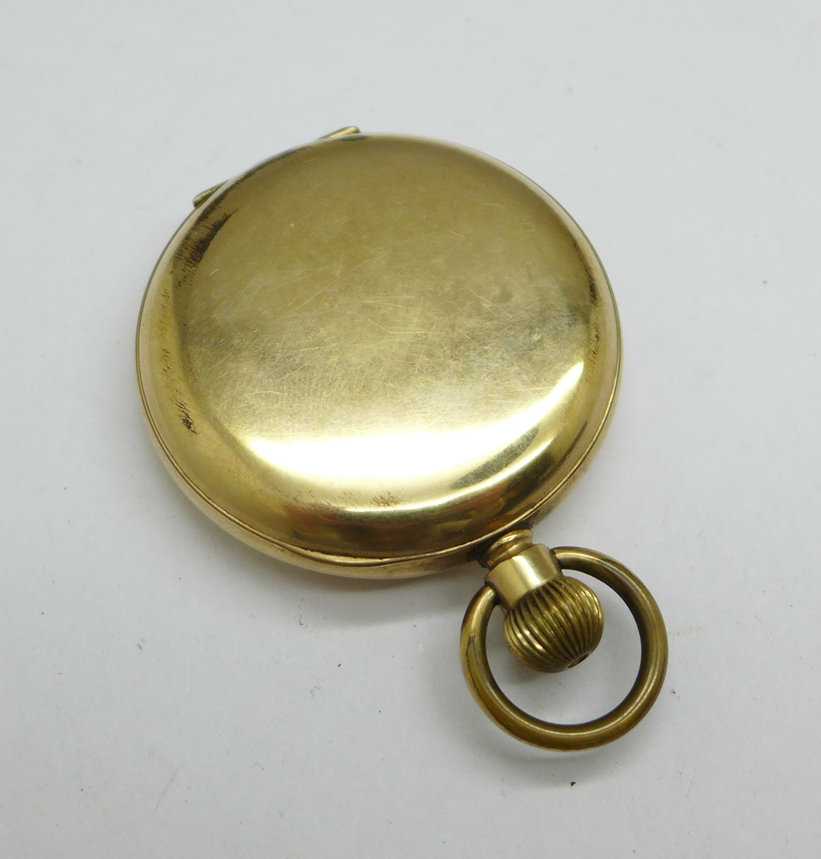 A Rolex wristwatch movement, 23mm, and a Waltham Giant gold plated full hunter pocket watch - Image 6 of 6
