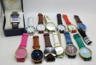 A Royal Chronograph wristwatch, boxed and other wristwatches