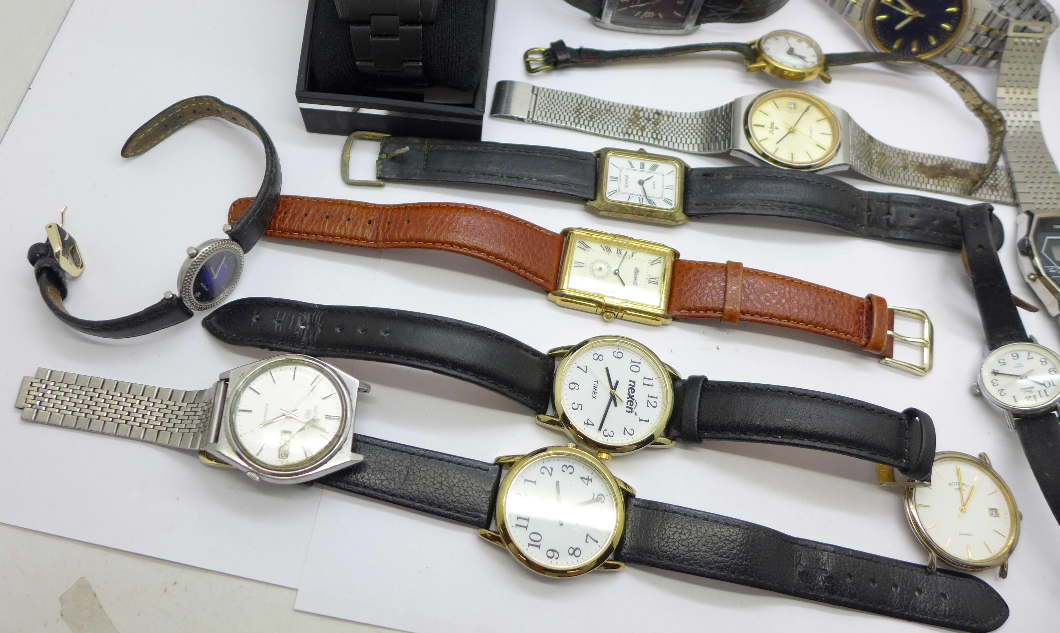 Wristwatches including Sekonda, Seiko, Ingersoll, Rotary, etc. - Image 4 of 5