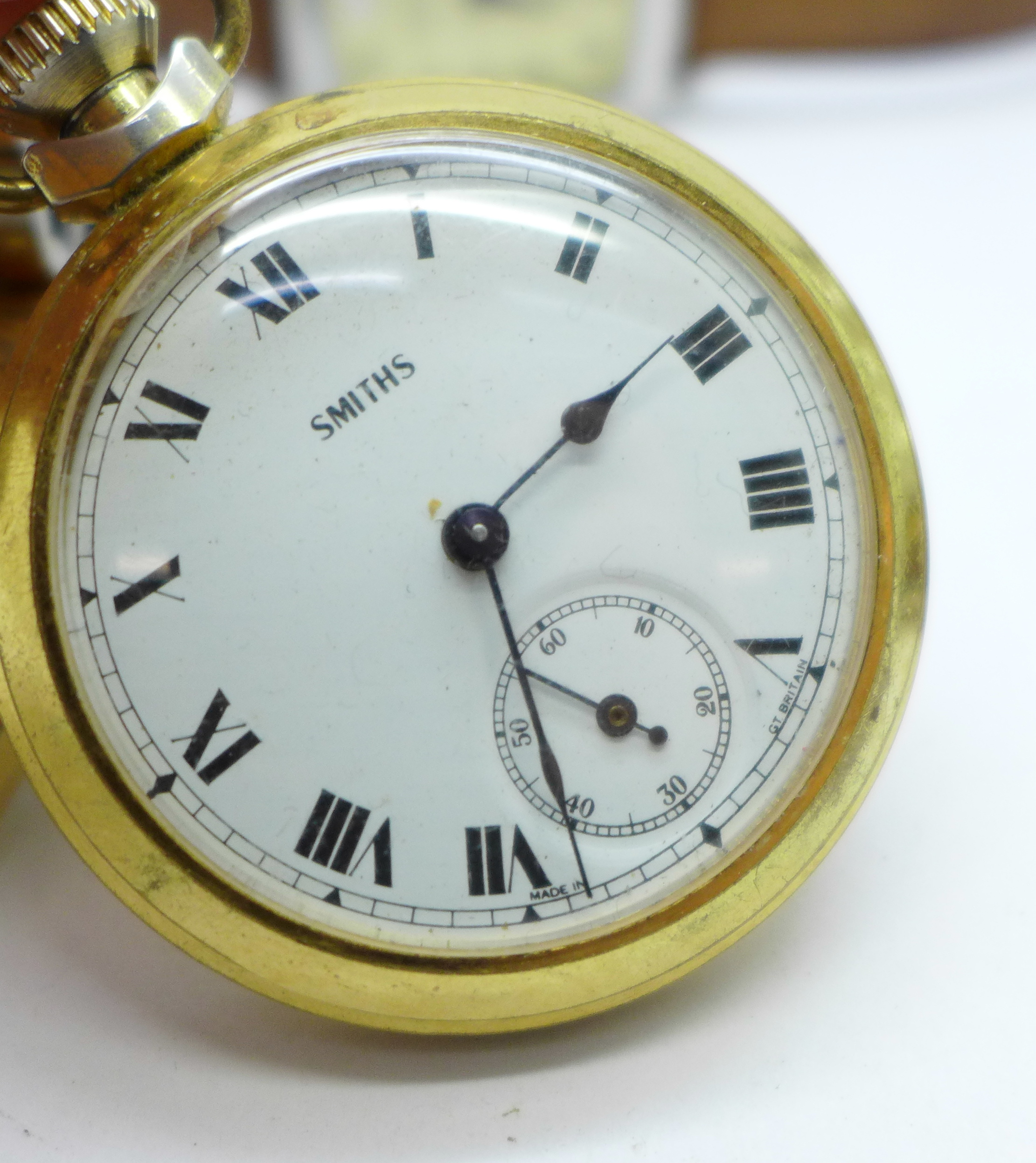 A collection of watches and a pocket watch including Seiko, Avia, Citizen, Emporio Armani and Smiths - Image 5 of 5