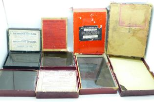 Five boxes of glass plate negatives, circa 1900 - 1940, fifty-two plates in total