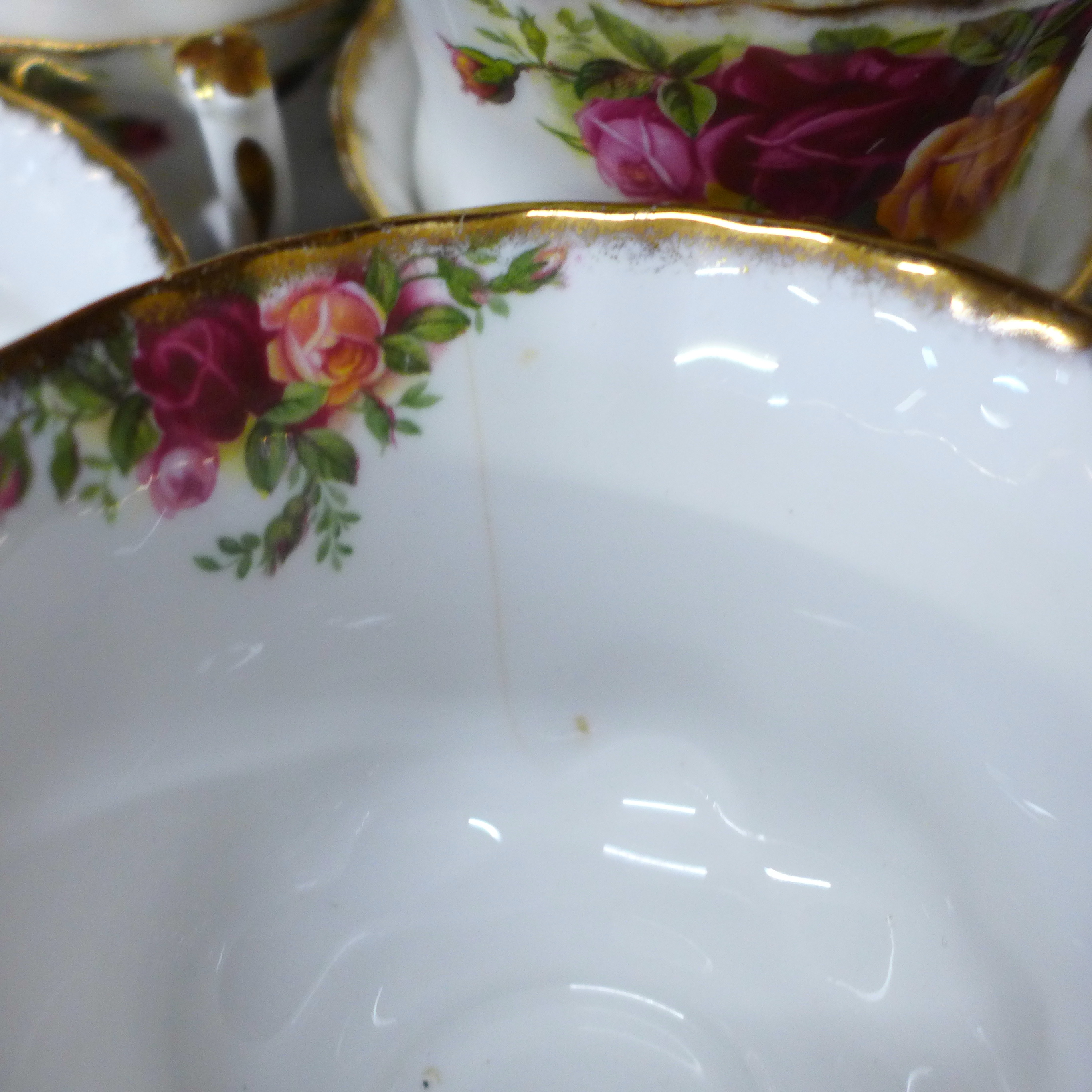 Royal Albert Old Country Roses china:- coffee pot, thirteen cups, fourteen saucers, eighteen side - Image 5 of 7