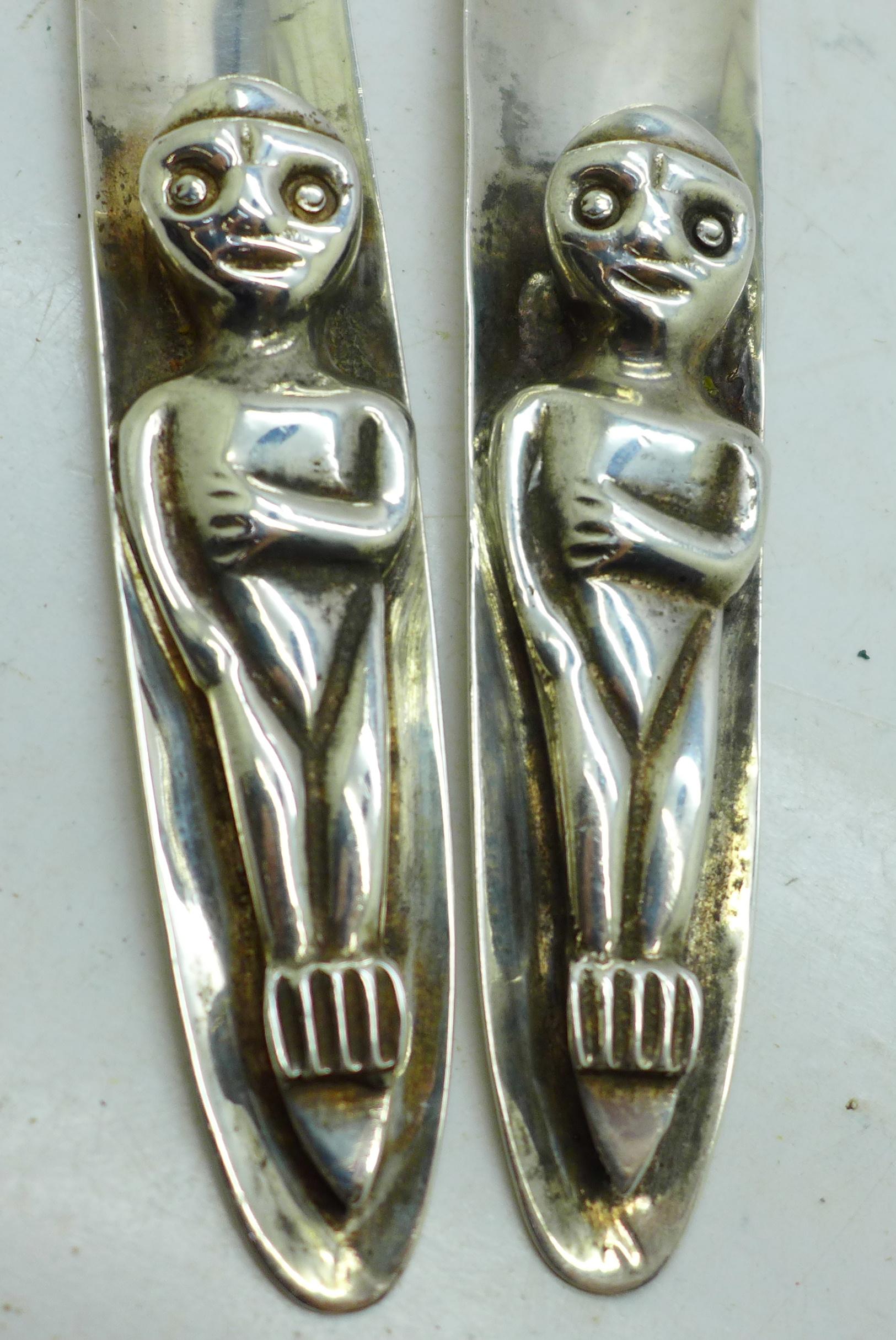 Two Canadian hammered Haida utensils, marked Acme Van. B.C. - Image 2 of 2