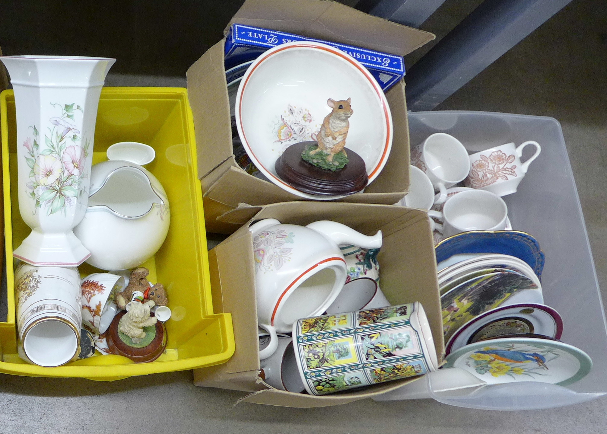A collection of mixed china including Royal Doulton, Limoges and Hammersley and two Lord of the