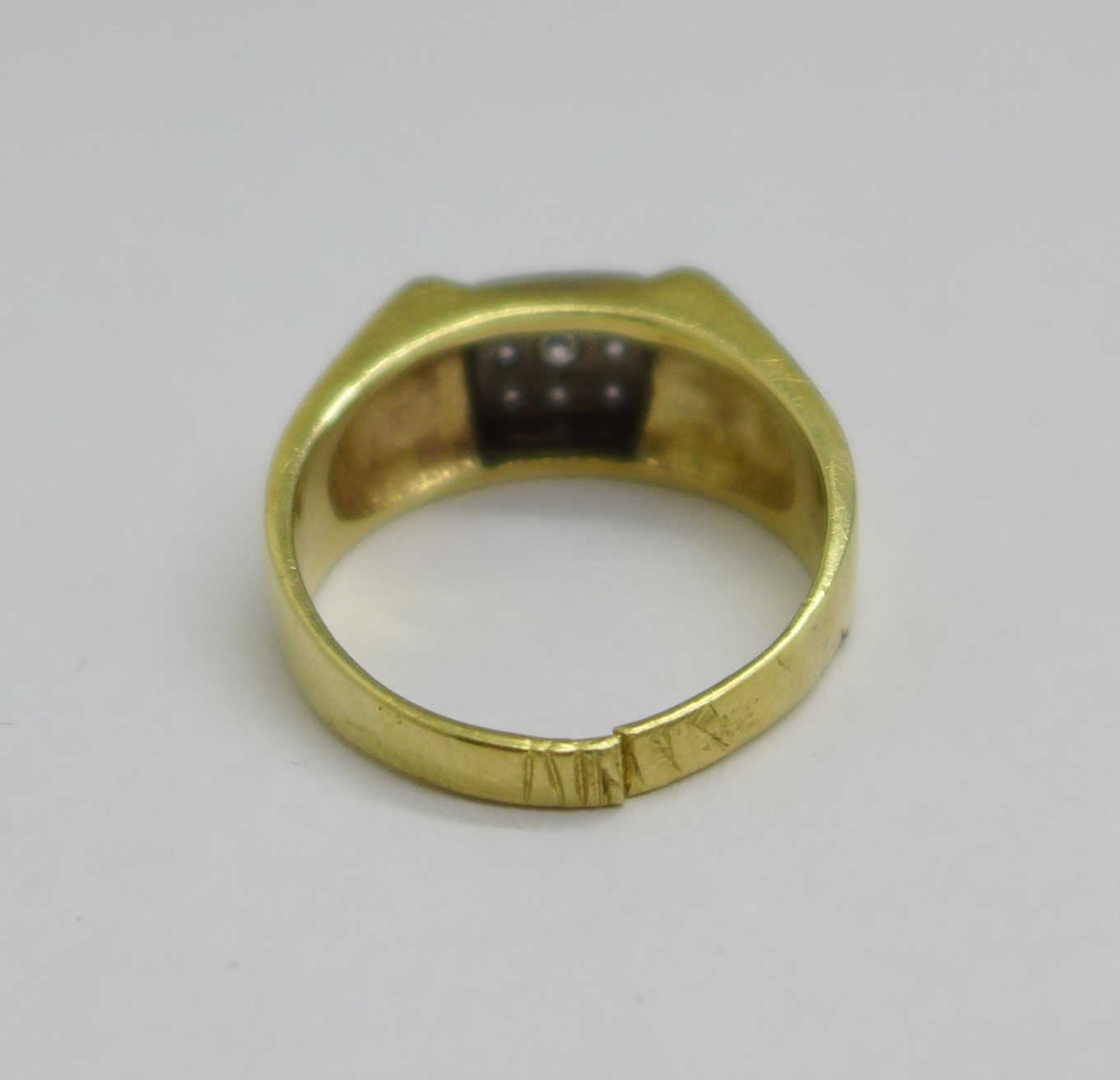 A 14ct gold and white stone ring, 7.9g, shank a/f - Image 4 of 4