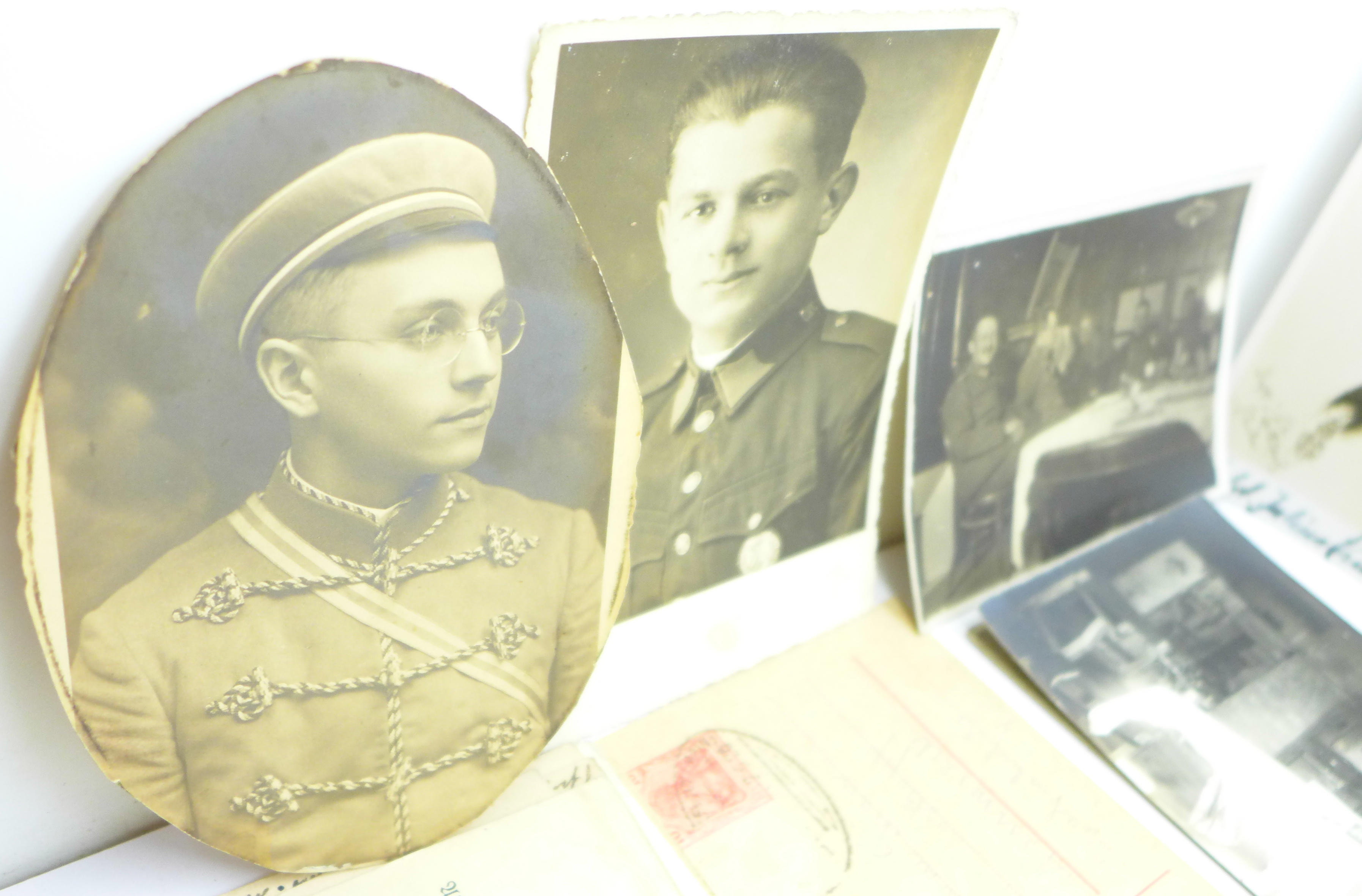 Seventeen WWI German photographs and twenty-two postcards - Image 4 of 6