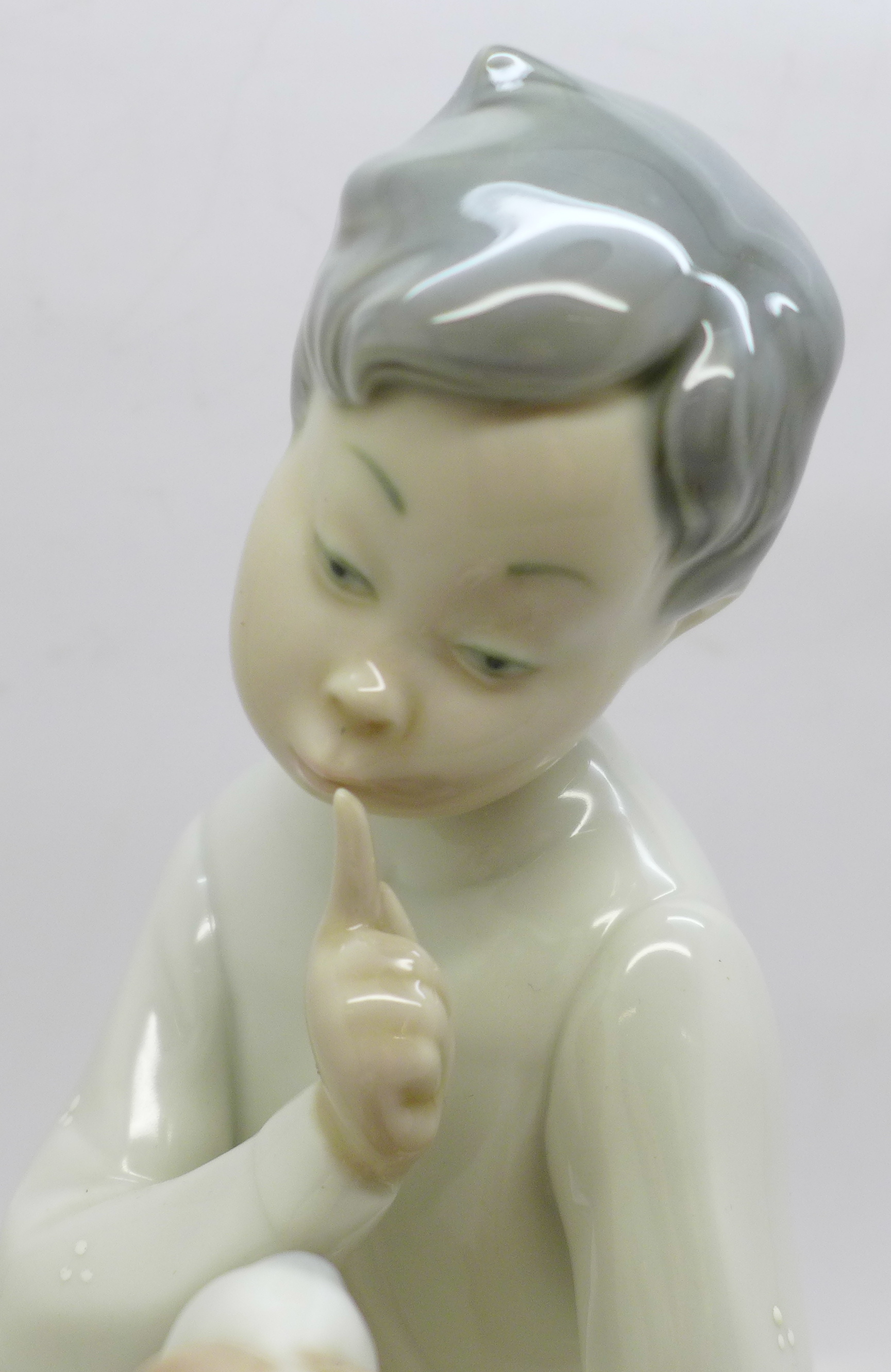 A Lladro figures, boy with dog, 19.5cm - Image 3 of 4