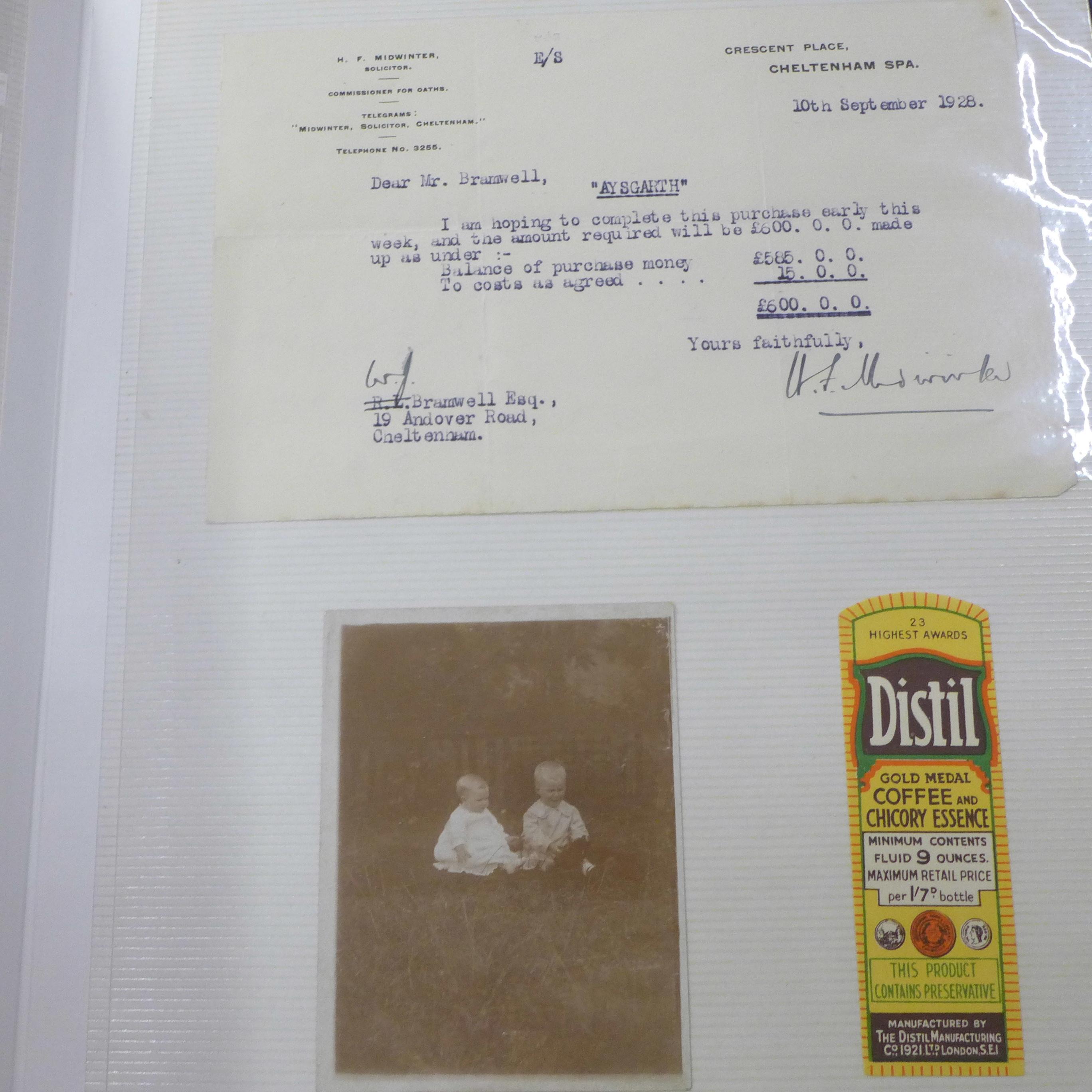 An album of assorted 1850's - 1950's paper ephemera - Image 11 of 11